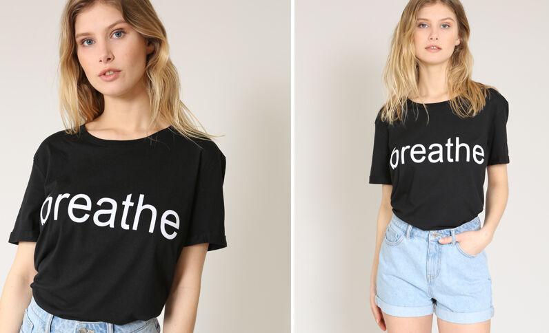T-shirt Breathe noir