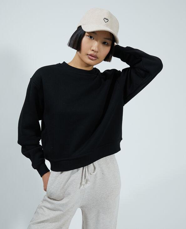 Sweater van molton zwart - Pimkie