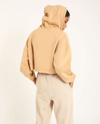 Cropped sweater beige