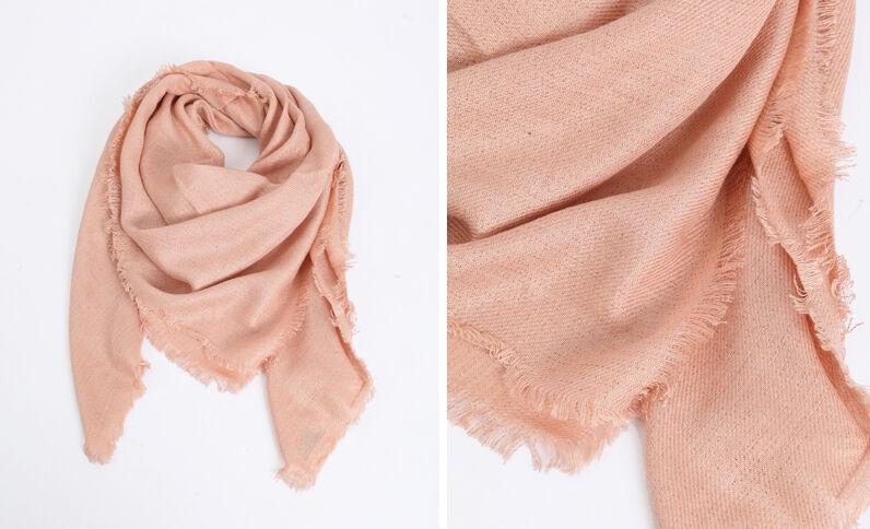 Vierkante foulard beige