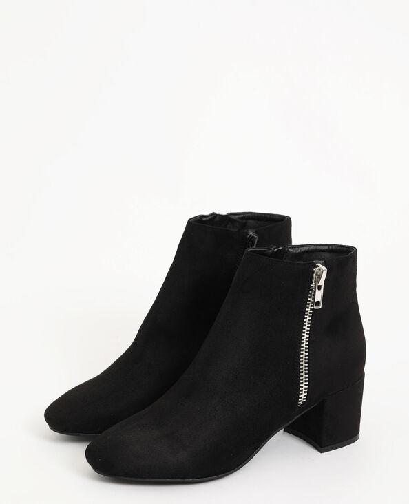 Laarzen met ronde neus zwart