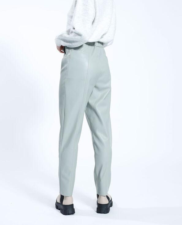 Pantalon carotte en simili cuir vert - Pimkie