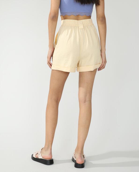 Short taille haute rustique jaune - Pimkie