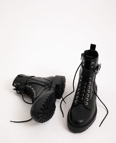 Laarzen van imitatieleer zwart