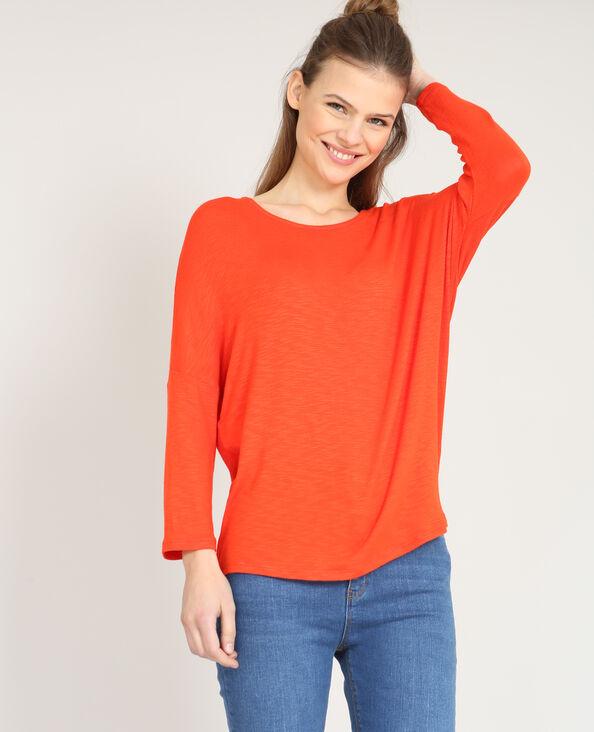 T-shirt à manches chauve-souris rouge