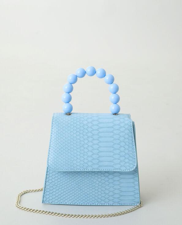 Handtas met kralen blauw