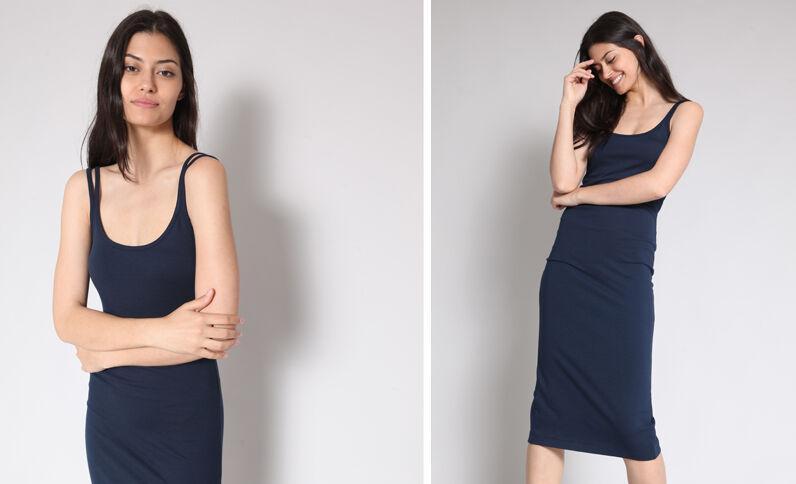 Strakke jurk marineblauw