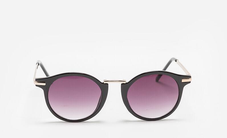 Zonnebril met ronde glazen zwart