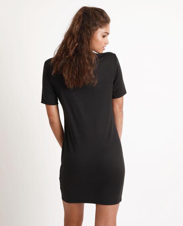 Robe bicolore noir
