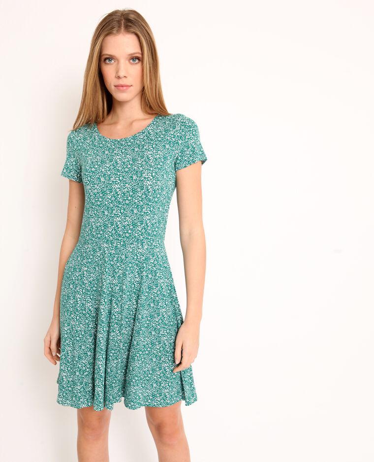 Robe à fleurs vert