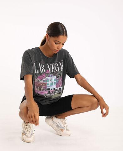 T-shirt graphique gris foncé