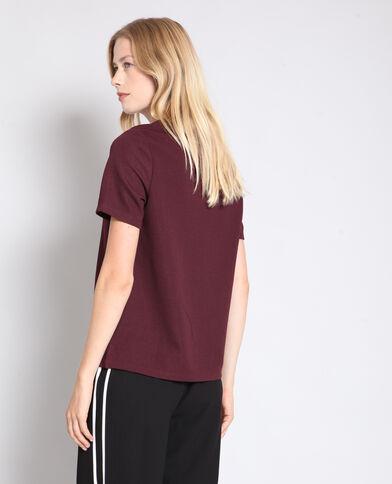 T-shirt texturé bordeaux