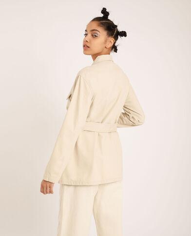 Safari-jasje gebroken wit