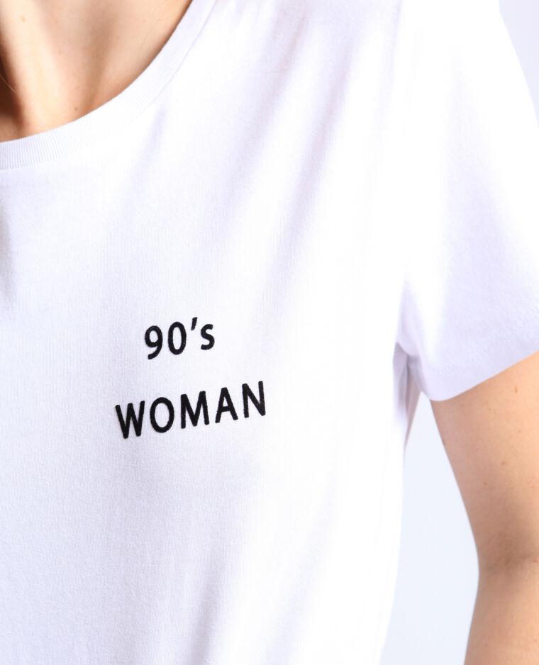 T-shirt 90's woman blanc