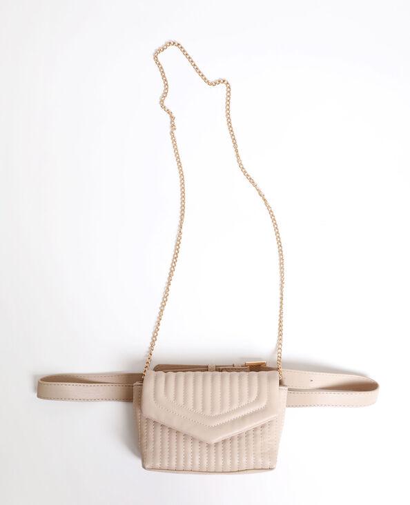 Sac-ceinture matelassé blanc