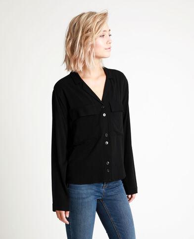 Hemd met zakken zwart