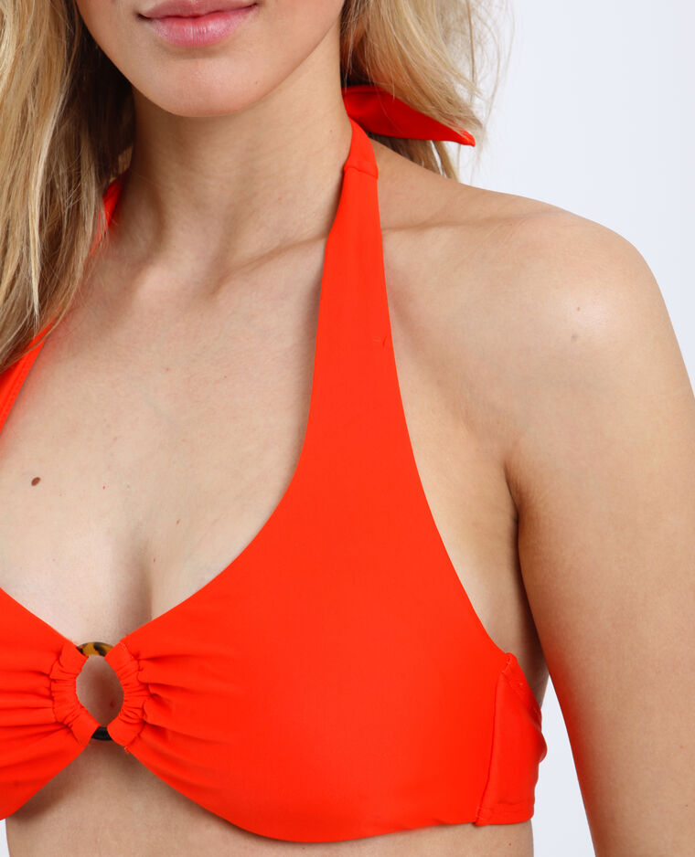 Haut de bikini triangle rouge