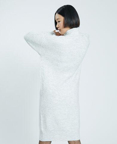 Trui-jurk met rolkraag lichtgrijs gemêleerd - Pimkie