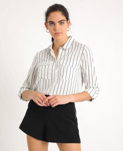 Hemd met streepjes wit