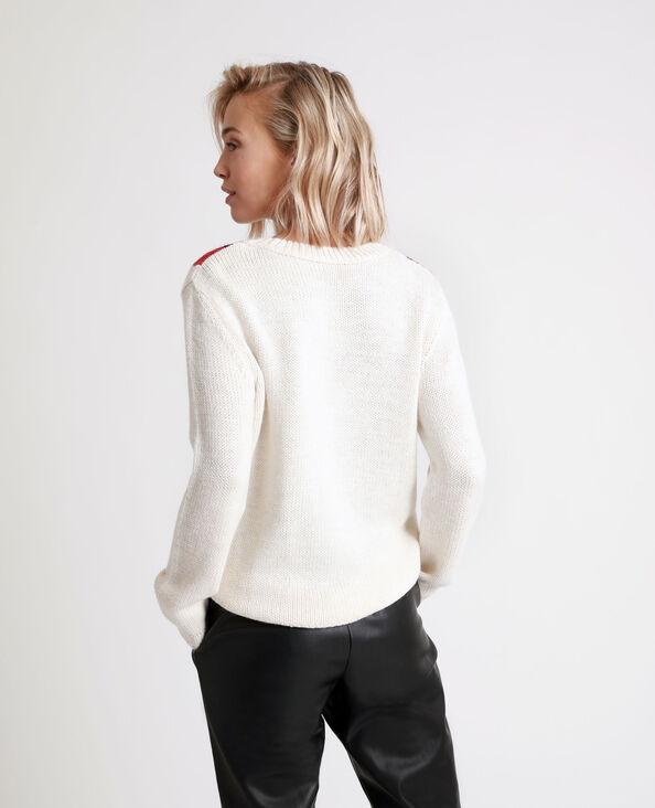 Pull jaquard blanc