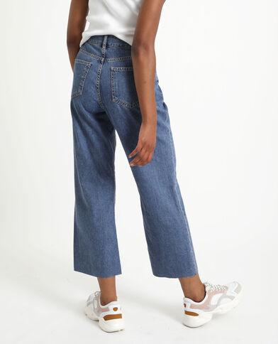 Jeans met brede pijpen denimblauw