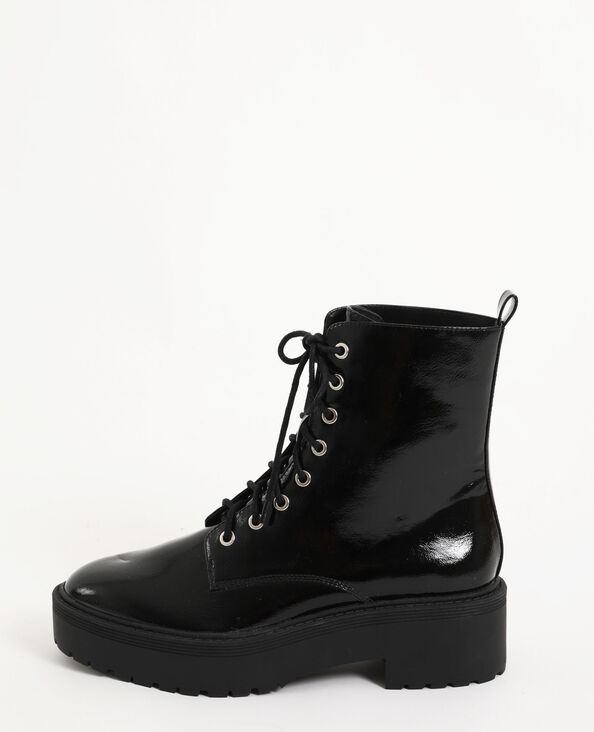 Bottines plateforme noir