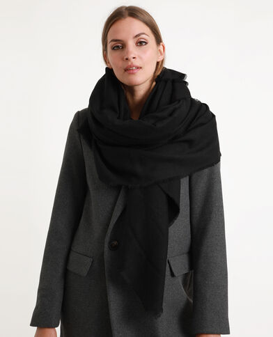 Grote omslagdoek zwart