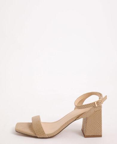 Sandales effet croco beige