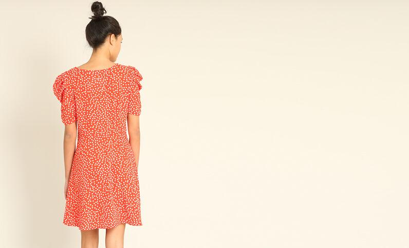 Robe fluide imprimée rouger