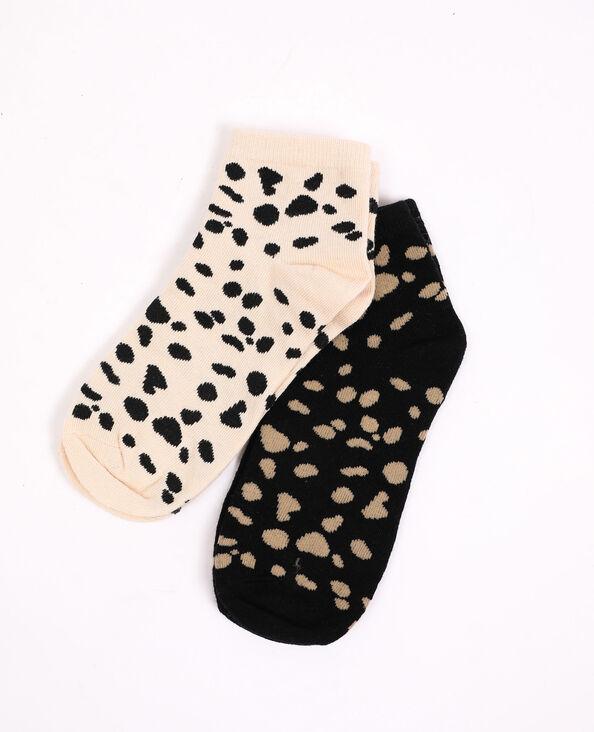 Set van 2 paar sokken beige