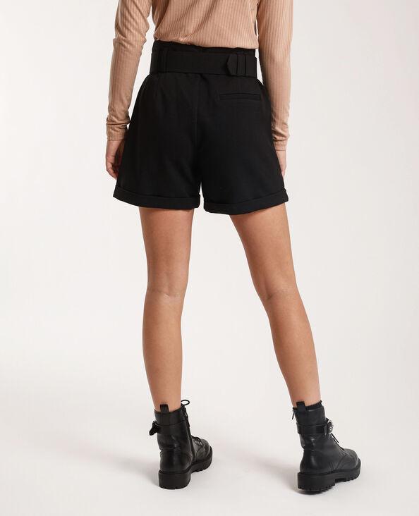 Short met riem zwart