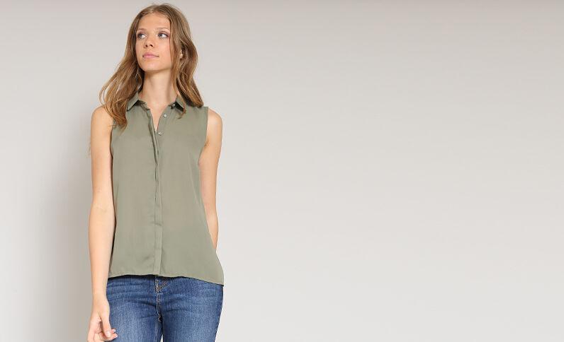 Hemd zonder mouwen groen