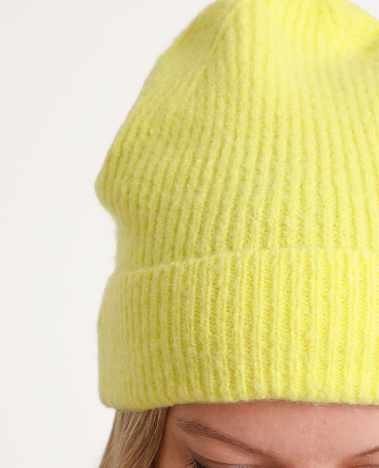 Bonnet à revers jaune