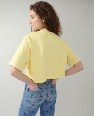 Cropped sweater geel - Pimkie