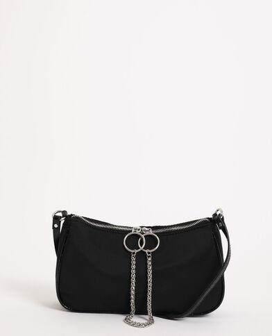 Handtas met kettinkje zwart