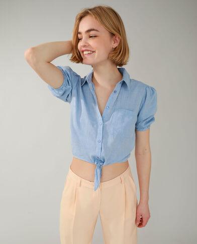 Chemise à nouer bleu clair - Pimkie