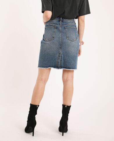Jupe en jean bleu denim