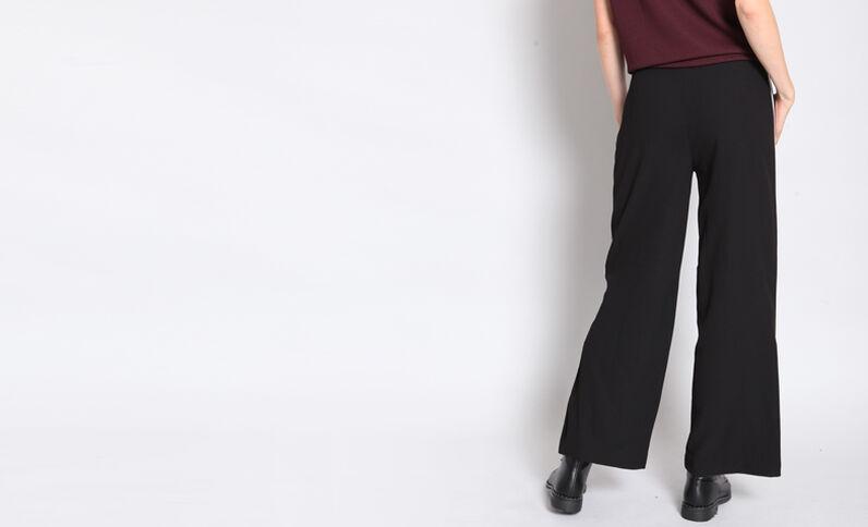 Wijde broek met stroken zwart