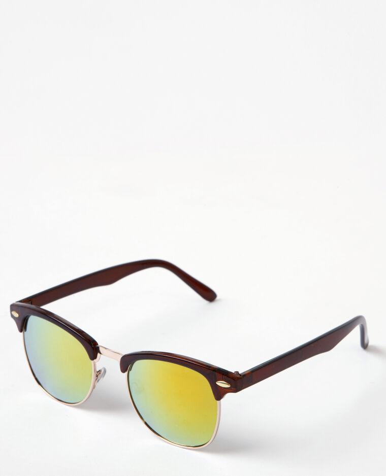 bc171816f6eecf Retro zonnebril kastanjebruin  Retro zonnebril kastanjebruin