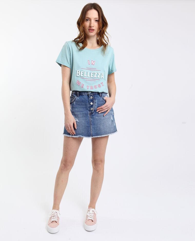 Bedrukt T-shirt watergroen
