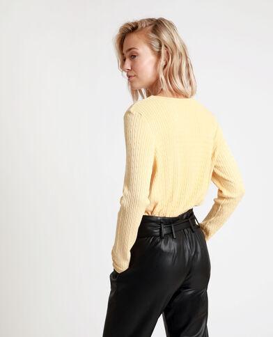 Dunne trui geel