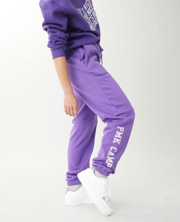 Joggingbroek van molton violet - Pimkie