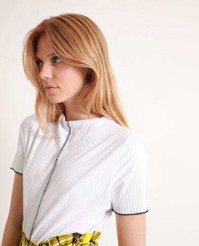 T-shirt texturé blanc