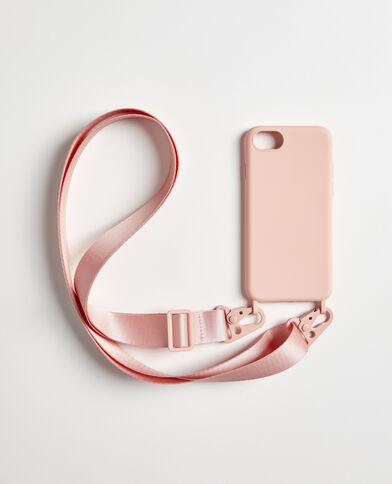 iPhone-hoesje met schouderband roze