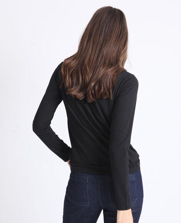 Gedraaid T-shirt zwart
