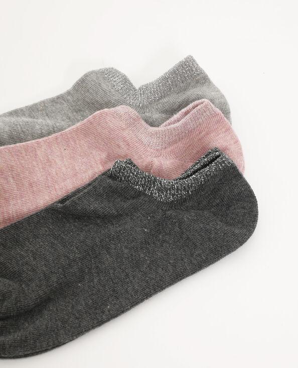 Set van 3 paar lage sokken Roze