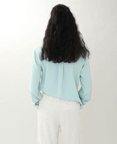 Soepelvallend hemd hemelsblauw