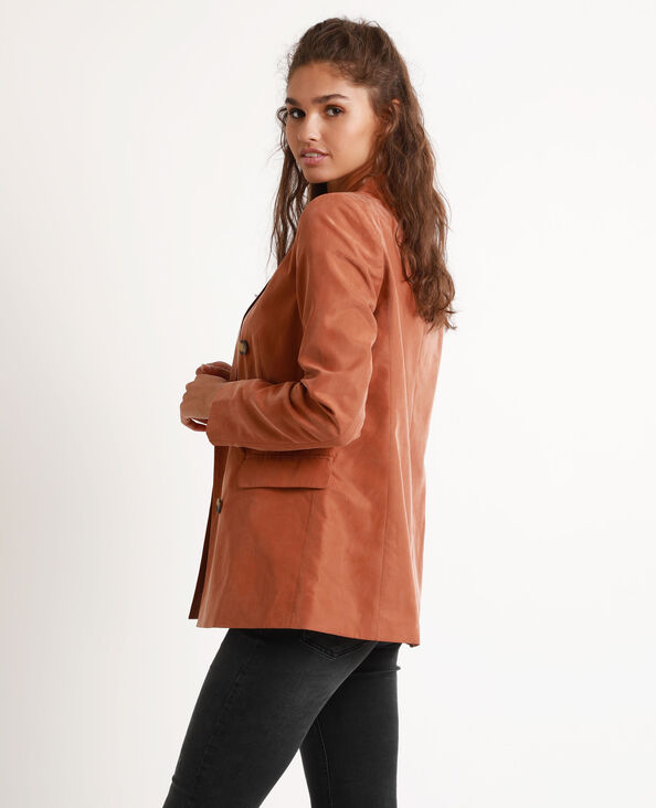 Veste large marron