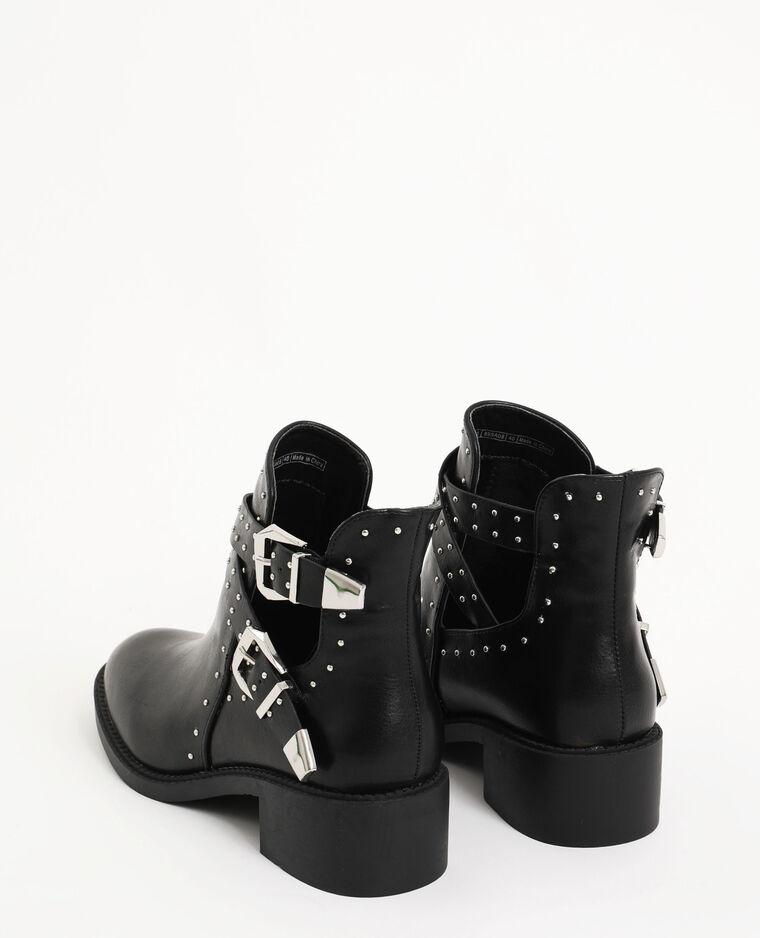 Boots cloutées noir