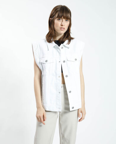 Overshirt van jeans wit - Pimkie